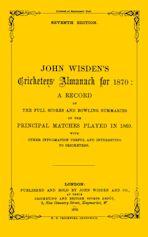 Wisden Cricketers' Almanack 1870 cover