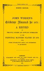 Wisden Cricketers' Almanack 1871 cover
