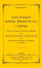 Wisden Cricketers' Almanack 1873 cover