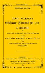 Wisden Cricketers' Almanack 1874 cover
