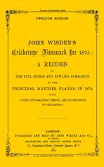 Wisden Cricketers' Almanack 1875 cover