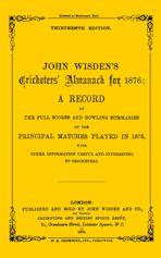 Wisden Cricketers' Almanack 1876 cover