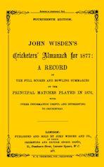 Wisden Cricketers' Almanack 1877 cover
