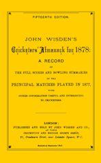 Wisden Cricketers' Almanack 1878 cover