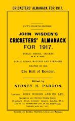 Wisden Cricketers' Almanack 1917 cover