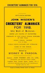 Wisden Cricketers' Almanack 1918 cover