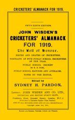 Wisden Cricketers' Almanack 1919 cover