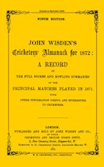 Wisden Cricketers' Almanack 1872 cover