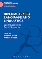 Biblical Greek Language and Linguistics cover