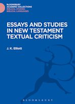 Essays and Studies in New Testament Textual Criticism cover