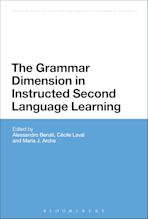 The Grammar Dimension in Instructed Second Language Learning cover