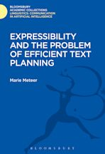 Expressibility and the Problem of Efficient Text Planning cover