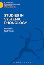 Studies in Systemic Phonology cover
