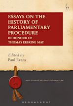 Essays on the History of Parliamentary Procedure cover