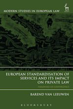 European Standardisation of Services and its Impact on Private Law cover