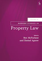 Modern Studies in Property Law, Volume 10 cover