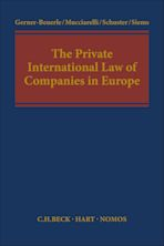 The Private International Law of Companies in Europe cover