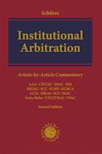 Institutional Arbitration cover