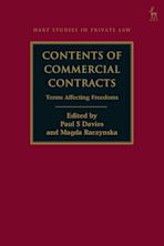Contents of Commercial Contracts cover
