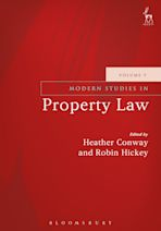 Modern Studies in Property Law - Volume 9 cover