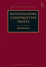 Rationalising Constructive Trusts cover
