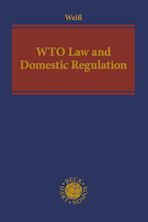 WTO Law and Domestic Regulation cover