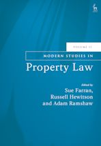Modern Studies in Property Law, Volume 11 cover
