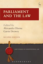 Parliament and the Law cover