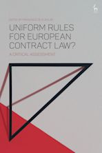Uniform Rules for European Contract Law? cover