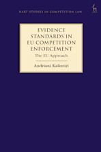 Evidence Standards in EU Competition Enforcement cover