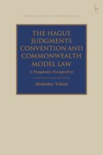 The Hague Judgments Convention and Commonwealth Model Law cover