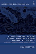 Constitutional Law of the EU's Common Foreign and Security Policy cover