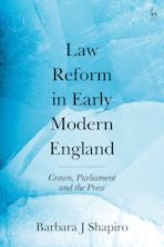 Law Reform in Early Modern England cover