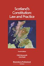 Scotland's Constitution: Law and Practice cover