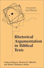Rhetorical Argumentation in Biblical Texts cover