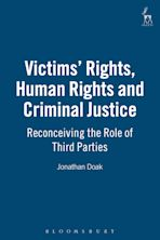 Victims' Rights, Human Rights and Criminal Justice cover