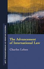 The Advancement of International Law cover