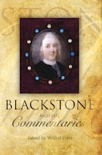 Blackstone and his Commentaries cover