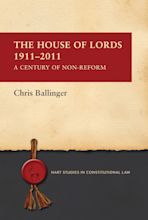 The House of Lords 1911-2011 cover