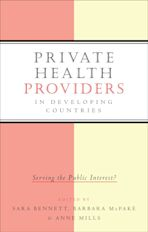 Private Health Providers in Developing Countries cover