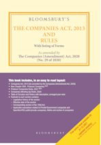 Bloomsbury's The Companies Act, 2013 and Rules cover