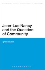 Jean-Luc Nancy and the Question of Community cover
