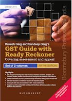 Rakesh Garg and Sandeep Garg's GST Guide with Ready Reckoner -  Covering assessment and appeal cover