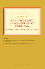 Bloomsbury's Manual of the Insolvency and Bankruptcy Code, 2016 with Rules and Regulations cover