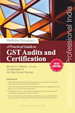 Madhukar Hiregange's A Practical Guide to GST Audits and Certification (5th edition) cover