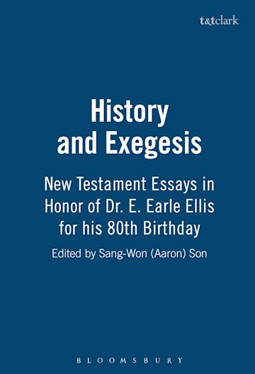 History and Exegesis cover