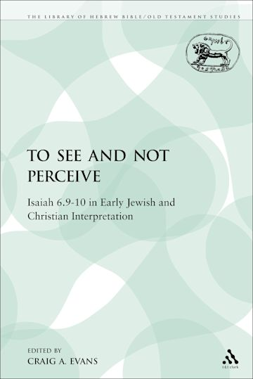 To See and Not Perceive cover