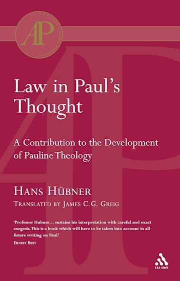 Law in Paul's Thought cover