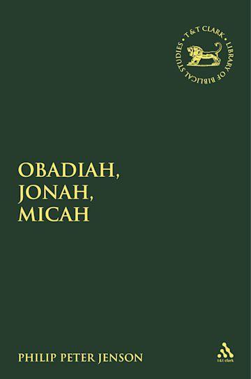 Obadiah, Jonah, Micah cover