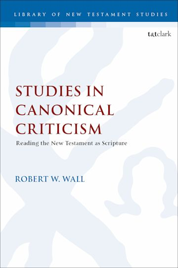 Studies in Canonical Criticism cover